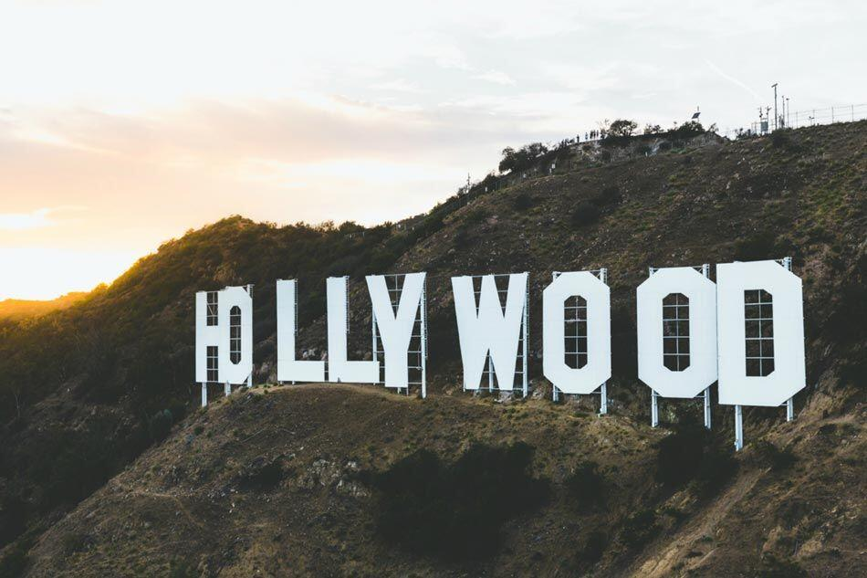 Hollywoodland Sign on Mount Lee in the Hollywood Hills area of the Santa Monica Mountains - AAAF