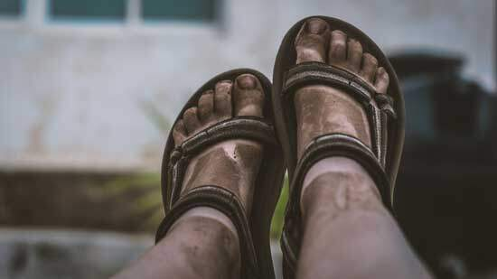 """Dirty feet as foot washing reminds us that we need to be cleansed daily from """"the sin which so easily beset us"""" Hebrews 12:1"""