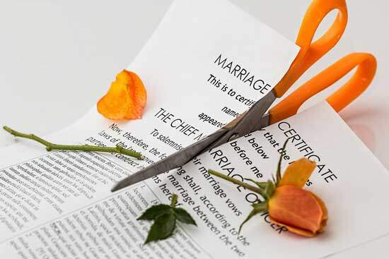 Tearing apart of marriage certificate & breaking of the marriage covenant by adultery resulting in divorce