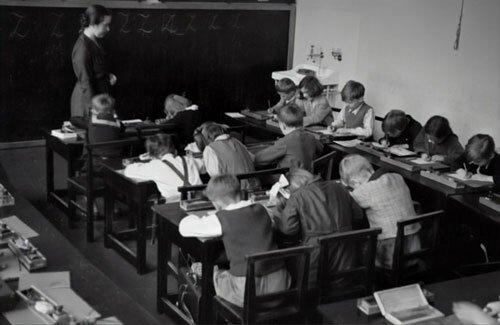 Inside Classroom of the First Adventist School started by Goodloe Harper Bell in Battle Creek, Michigan