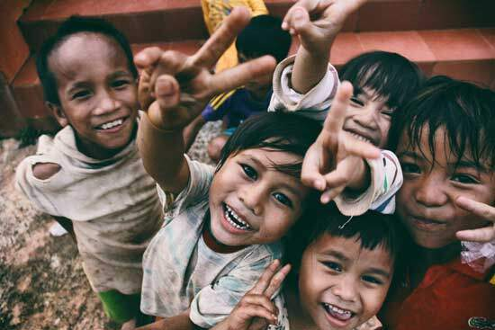 Joyful children as Adventists run hospitals, medical clinics & orphanages to help the needy, the hurting, & the suffering.