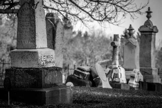 Tombstone as Bible says that wicked dead sleep in the grave, awaiting future judgment at the resurrection of condemnation