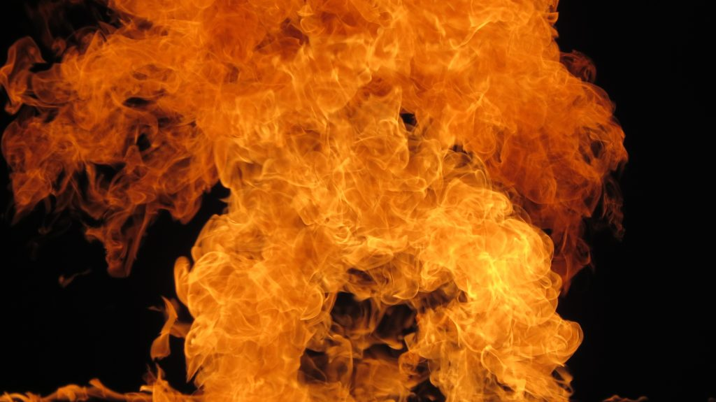 Fire burning and going up as Adventist believe that the wicked will not have eternal life in hell - AAAF