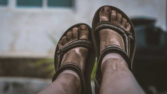 Dirty feet as Jesus taught by foot washing lessons of humility & servanthood & Adventists refer as Ordinance of Humility