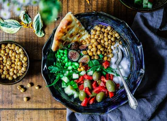 Vegan dish as one of the principles of Adventist health is nutrition & Adventists value a holistic, well-balanced diet